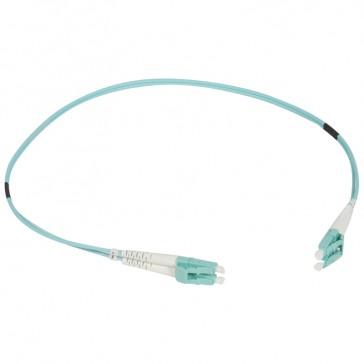 Patch cord fibre optic - OM 4 multimodules (50/125 μm) - LC/LC duplex - 0.5 m
