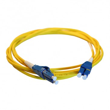 Patch cord fibre optic LCS³ - OS1/OS2 single-mode - LC/LC Uniboot duplex - reversible polarity - 1 m