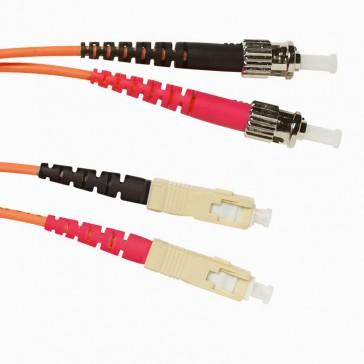 Patch cord fibre optic - OM 2 multimodules (50/125 μm) - ST/SC duplex - 3 m