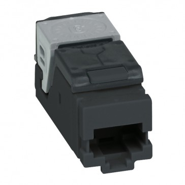 Set of 6 high density RJ 45 connectors for flat and angled panel LCS³ - Cat.5e UTP