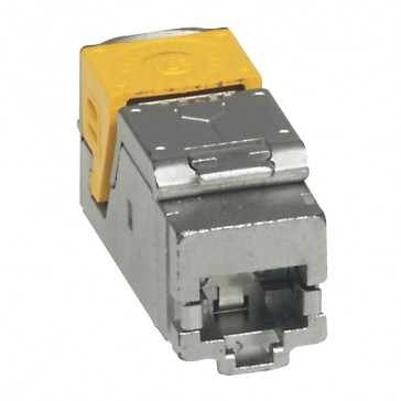 Set of 6 high density RJ 45 connectors for flat and angled panel LCS³ - Cat.6 A STP
