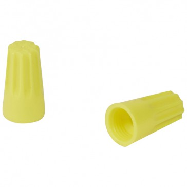Connector without screw - Capvis cap - capacity 4 mm² - yellow - box