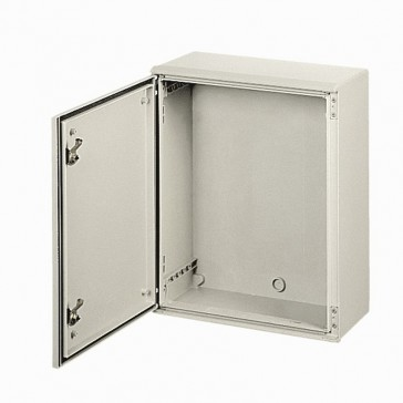 Atlantic stainless steel cabinet 304L - vertical version with 1 metal door and external dimensions 500x500x250 mm