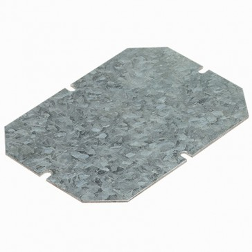 Mounting plate - for boxes 130x130 mm - galvanized steel - 1.5 mm thick