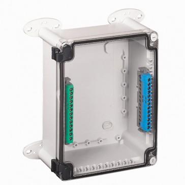 Industrial box - plastic - IP55 - IK07 - transparent cover - 220x170x86 mm