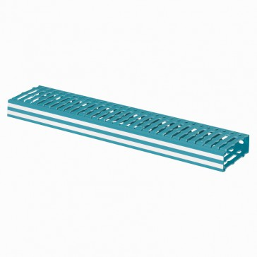 Cable ducting Lina 25 - width 25 x height 80 mm - blue 2525 - L. 2 m