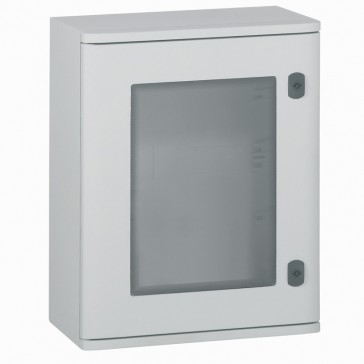 Cabinet Marina - polyester with glass door - IP66 - IK10 - 400x300x206 mm