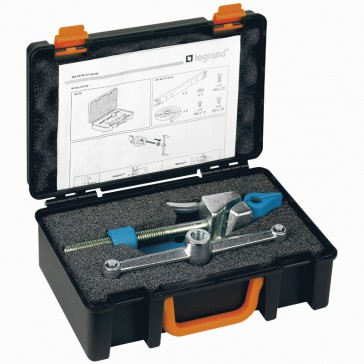 Cutter clamp tool for Marina cabinets to stretch and cut the steel strips - supplied in briefcase