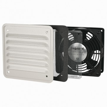 Ventilator with metal louvre - IP32 - IK10 - 30/160 mᄈ/h - RAL 7032