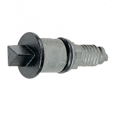 Metal rebate lock - 11 mm male triangle - metal