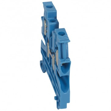 Terminal block Viking 3 - screw -1 connect - 2 entries/2 outlets - pitch 6 -blue