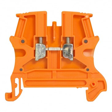 Terminal block Viking 3 - screw - 1 connect - 1 entry/1 outlet - pitch 6 -orange