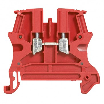 Terminal block Viking 3 - screw - 1 connect - 1 entry/1 outlet - pitch 6 - red