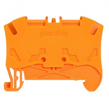 Terminal block Viking 3 - spring - 1 connect - 1 entry/1 outlet -pitch 6 -orange