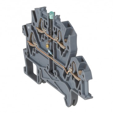 Terminal block Viking 3 - spring - function block - 2 connect - diode carrier