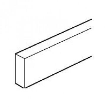 Copper bar non perforated - 12 x 4 mm - max. 180 A - L. 991.5 mm