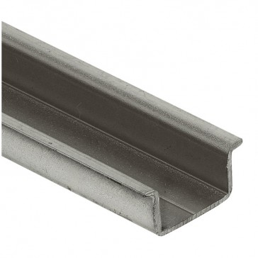 Rail to be cut - symmetrical - depth 15 mm - theight 1.5 mm - L. 2 m