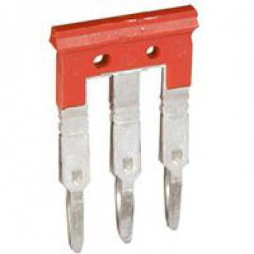 Bridging combs Viking 3 - equipotential - for 3 blocks with 8 mm pitch - red
