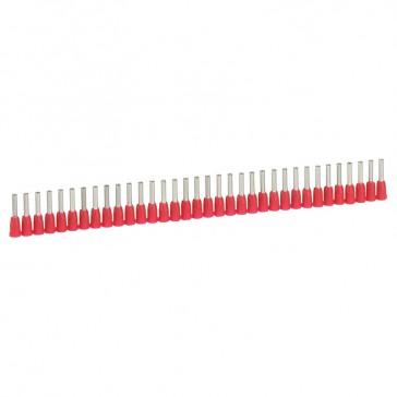 Ferrules in strips Starfix - cross section 1 mm² - red
