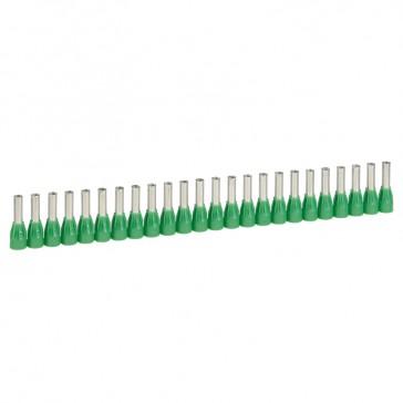 Ferrules in strips Starfix - cross section 6 mm² - green