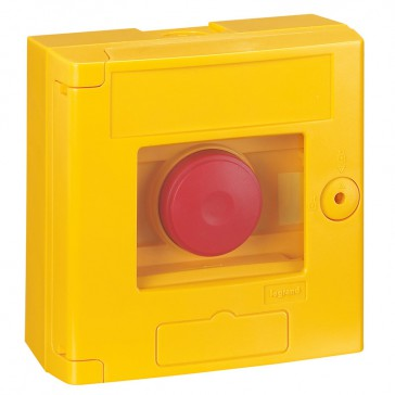 Break glass emergency box-2 position-surface mounting-IP44-yellow box without LED