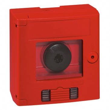 Break glass emergency box-2 position-surface mounting-IP44-red box with LED