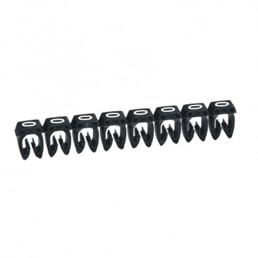 Marker CAB 3 - for wiring 1.5 to 2.5 mm² - number 0 - black