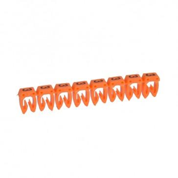 Marker CAB 3 - for wiring 1.5 to 2.5 mm² - number 3 - orange