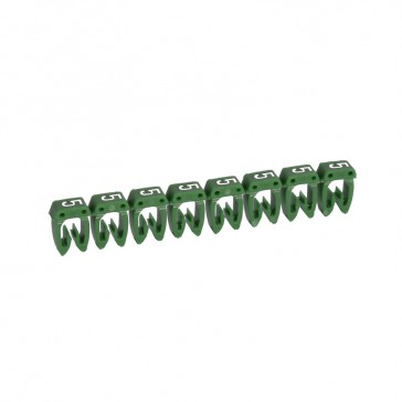 Marker CAB 3 - for wiring 1.5 to 2.5 mm² - number 5 - green