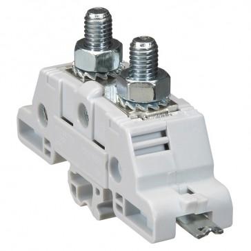 Plate power terminal blocks Viking 3 - for bars/lugs - asym rails - M8 -pitch 26