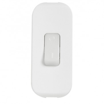 Cord switch - 2P - 2 A 250 V~ - fluorescent - white spotted