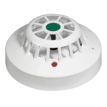 Heat detector - for fire alarm panel - supplied with base - threshold of 60 °C