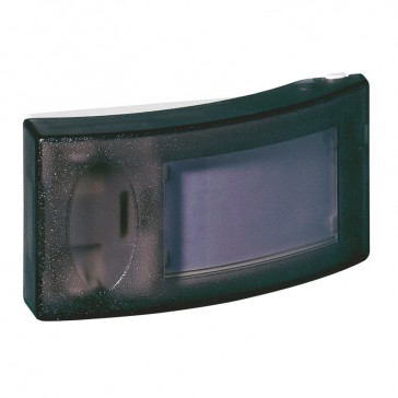 Bell push with illuminated label holder - surface-mount 230 V-2 A -IP30 -classII