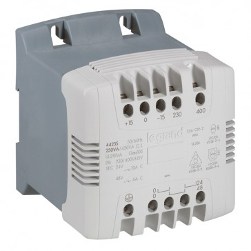 Control and signal. transfo - 1 Ph - prim 230/400 V / sec 24/48 V -400 VA -screw