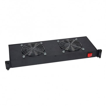"19"" ventilation shelf - 1 U - for encloures - with 2 fans - depth 150 mm"