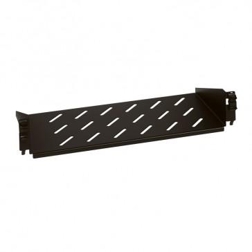Fixed shelf - 2 U - for enclosures - depth 360 mm - quick fixing