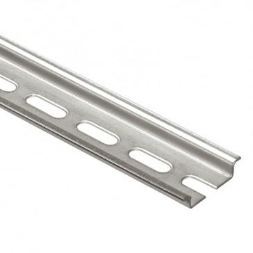 Rail to be cut - symmetrical - depth 7.5 mm - with oblongs - L. 2 m
