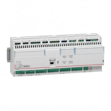 Bacnet room controller unit with 16 inputs and 16 outputs for hotel room management - 12 DIN modules