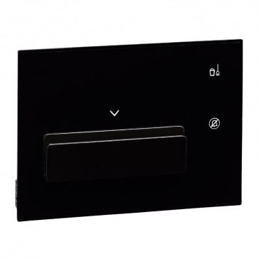 Keycard reader with guest or staff badge discrimination user interface hotel equipment BUS - black