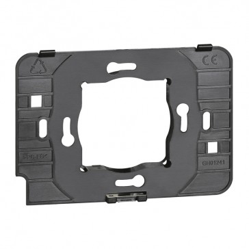 Support frame for user interface hotel equipment BUS mounting in 2 and 3 modules flush-mounting boxes