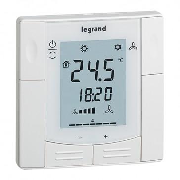 KNX thermostat 230 V~ - supplied flush-mounting box - white