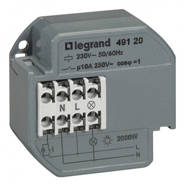 Single pole latching relay - silent - 10 A - surface-mounting - with timer