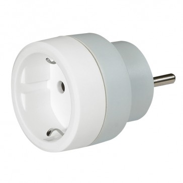 German to French standard adaptor - 2P+E - 16 A - with safety shutters - white