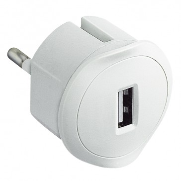 USB charging socket - German/French/Italian standards - 5 V - 1.5 A max. - white