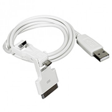 3-in-1 USB connection kit - mini/micro USB and Iphone 3/3S/4/4S