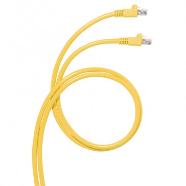 Cord for area distribution box - Cat.6 A - RJ 45/RJ 45 - S/FTP unscreened - 20 m
