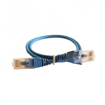 Patch cord RJ45/RJ45 High Density category 6 unscreened U/UTP - LSZH blue - 0,5m
