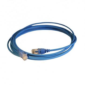 Patch cord RJ45/RJ45 High Density category 6 unscreened U/UTP - LSZH blue - 3m