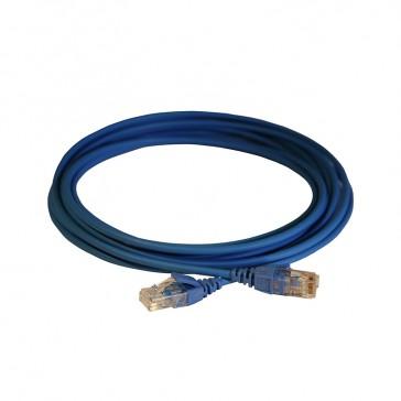Patch cord RJ45/RJ45 High Density category 6 unscreened U/UTP - LSZH blue - 5m