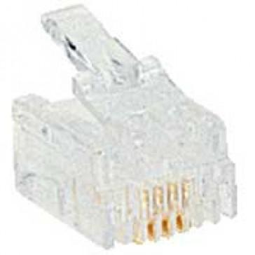Plug RJ 11 - 4 contacts - width 9.65 mm